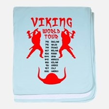 Viking World Tour Funny Norse T-Shirt baby blanket