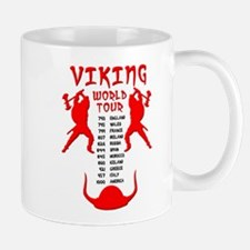 Viking World Tour Funny Norse T-Shirt Small Mugs