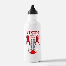 Viking World Tour Funny Norse T-Shirt Water Bottle