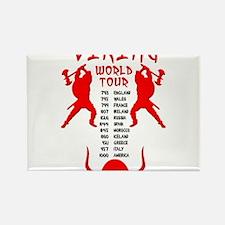 Viking World Tour Funny Norse T-Shirt Rectangle Ma