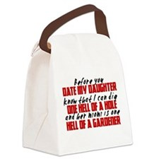 Dig the Hole - Daughter Dating Canvas Lunch Bag
