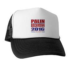 Bachmann Palin President 2016 Crazy Back Trucker Hat