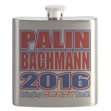 Bachmann Palin President 2016 Crazy Back Flask