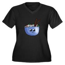 Chibi Pho v2 Women's Plus Size V-Neck Dark T-Shirt