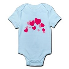 Valentine hearts Infant Bodysuit