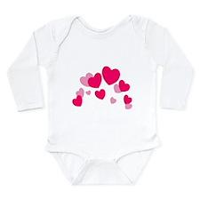 Valentine hearts Long Sleeve Infant Bodysuit