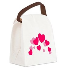 Valentine hearts Canvas Lunch Bag