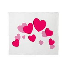 Valentine hearts Throw Blanket
