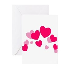 Valentine hearts Greeting Cards (Pk of 10)