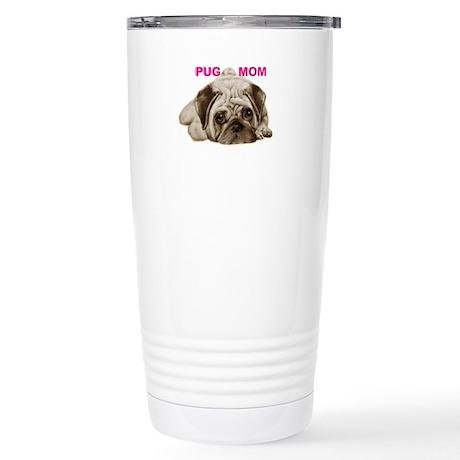 pug mom Stainless Steel Travel Mug
