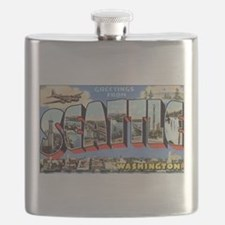 Greetings from Seattle Flask
