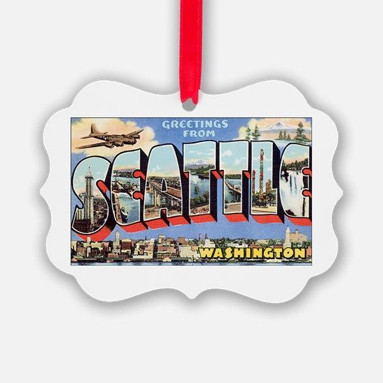 Greetings from Seattle Ornament