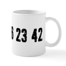 Lost Numbers Small Small Mug