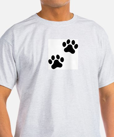 Pawprints Ash Grey T-Shirt