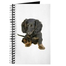 Black brindle Dachshund doxie Journal