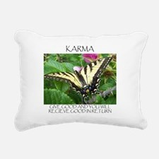 KARMA BUTTERFLY.jpg Rectangular Canvas Pillow