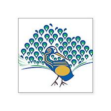 """Peacock Square Sticker 3"""" x 3"""""""