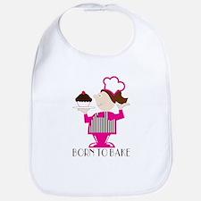 Born Cupcake Baker Bib