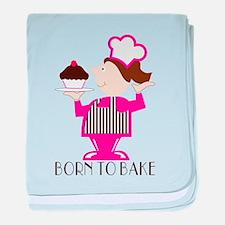 Born Cupcake Baker baby blanket