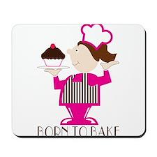 Born Cupcake Baker Mousepad