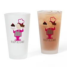 Born Cupcake Baker Drinking Glass