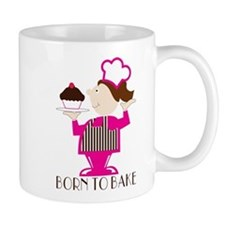 Born Cupcake Baker Mug