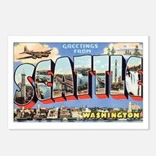 Greetings from Seattle Postcards (Package of 8)