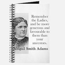 Remember The Ladies - Abigail Adams Journal