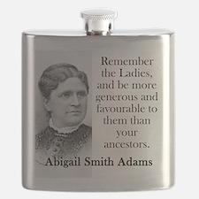 Remember The Ladies - Abigail Adams Flask