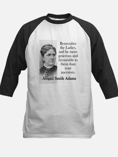 Remember The Ladies - Abigail Adams Baseball Jerse