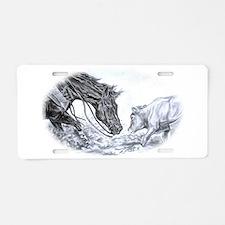 Unique Equestrian art Aluminum License Plate