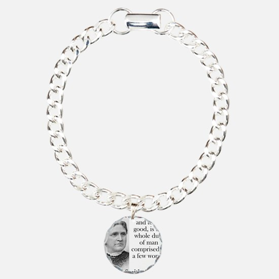 To Be Good And To Do Good - Abigail Adams Bracelet
