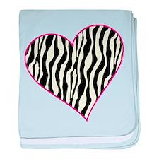 Zebra Heart baby blanket