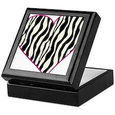 Zebra Heart Keepsake Box
