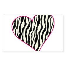 Zebra Heart Decal
