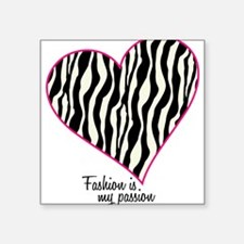 "Zebra Fashion Passion Square Sticker 3"" x 3"""