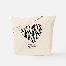 Zebra Fashion Passion Tote Bag