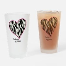 Zebra Fashion Passion Drinking Glass
