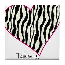 Zebra Fashion Passion Tile Coaster