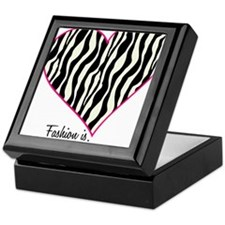Zebra Fashion Passion Keepsake Box