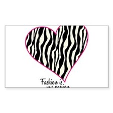 Zebra Fashion Passion Decal