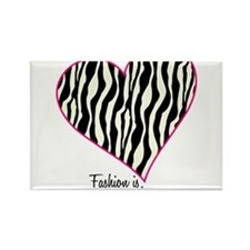Zebra Fashion Passion Rectangle Magnet