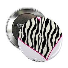 "Zebra Fashion Passion 2.25"" Button"