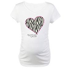 Zebra Print Heart Shirt