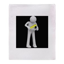 Condom Size Dude Throw Blanket