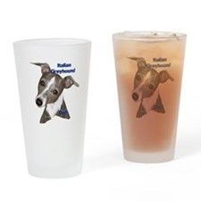 Italian Greyhound dad Drinking Glass