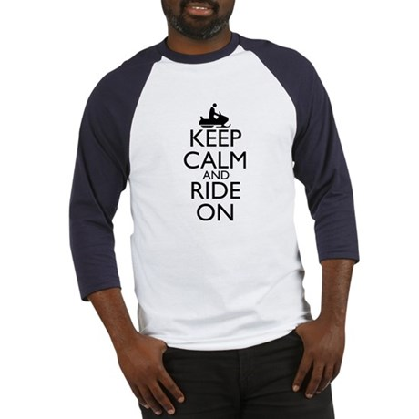 Keep Calm and Ride On Baseball Jersey