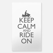 Keep Calm and Ride On Sticker (Rectangle)