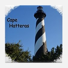 Cape Hatteras Lighthouse Tile Coaster