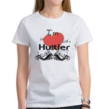 I'm in love with a hustler Fly Girl Tee White